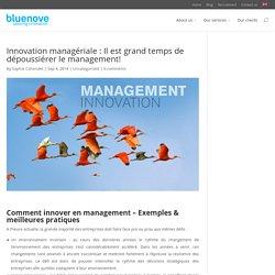 Innovation managériale : Il est grand temps de dépoussiérer le management! - bluenove