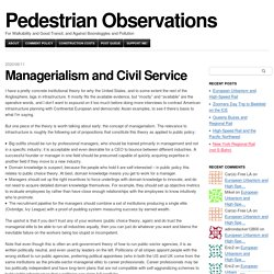 Managerialism and Civil Service
