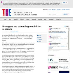 Managers are extending reach into research