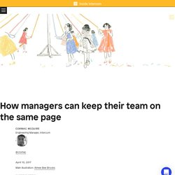 How Managers Can Keep Their Team On The Same Page