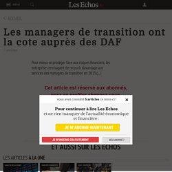 Les managers de transition ont la cote auprès des DAF
