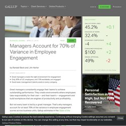 Managers Account for 70% of Variance in Employee Engagement