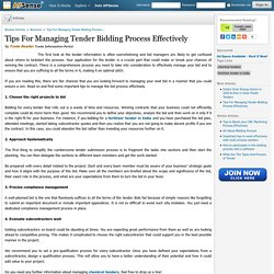 Top 4 Tips for Effective Tender Bid Management