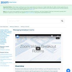 Managing breakout rooms