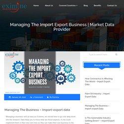 Managing The Import Export Custom Data Business