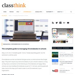 Managing Chromebooks in Schools