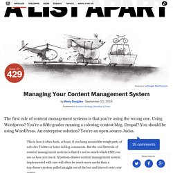 Managing Your Content Management System