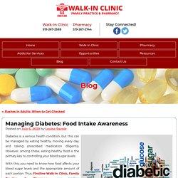 Managing Diabetes: Food Intake Awareness