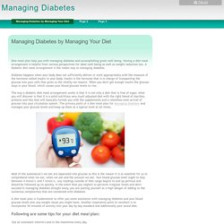 Managing Diabetes - Managing Diabetes by Managing Your Diet