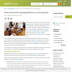 When Parents Clash: Managing Differences in Parenting Style