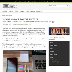 Managing your digital records