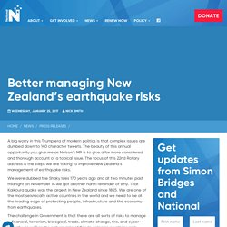 Better managing New Zealand's earthquake risks - NZ National Party