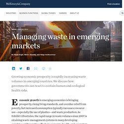 Managing waste in emerging markets