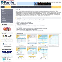 Paylite Helps Managing all HR functions. A Software Designed For Payroll and HR Management System