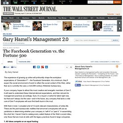 Gary Hamel on Managing Generation Y - the Facebook Generation -
