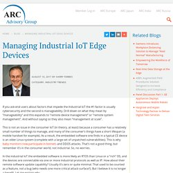 Managing Industrial IoT Edge Devices