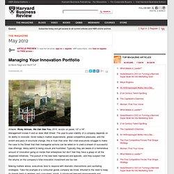Managing Your Innovation Portfolio
