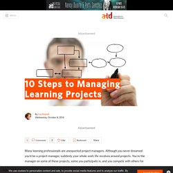 10 Steps to Managing Learning Projects