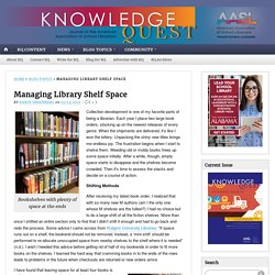 Managing Library Shelf Space