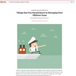 Things that You Should Know in Managing Your Of... - Maritime and Offshore Blog - Quora