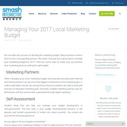 Managing Your 2017 Local Marketing Budget