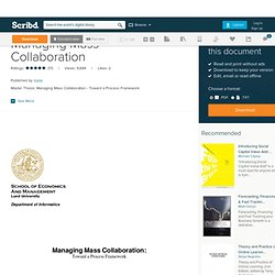 Managing Mass Collaboration