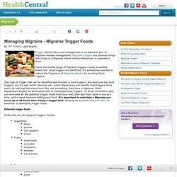 Managing Migraine - Migraine Food Triggers
