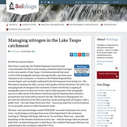 Managing nitrogen in the Lake Taupo catchment