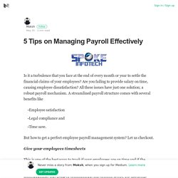 5 Tips on Managing Payroll Effectively