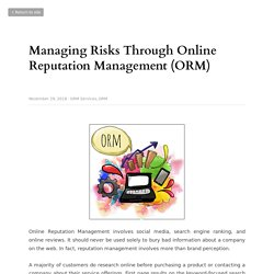 What Is The Need Of Online Reputation Management?