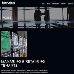 MANAGING & RETAINING TENANTS