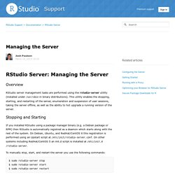 Managing the Server