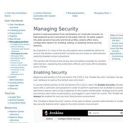 Managing Security