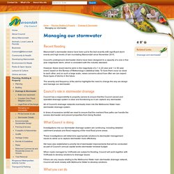 Managing our stormwater - Maroondah City Council
