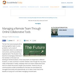 Managing a Remote Team Through Online Collaborative Tools