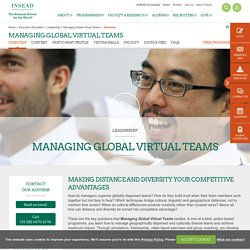 Managing Global Virtual Teams Overview