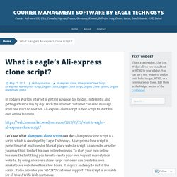 courier managment software by eagle technosys