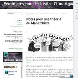 Notes pour une théorie du Manarchiste – Féministes pour la Justice Climatique