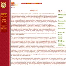 Manas: Religious texts of India, Puranas