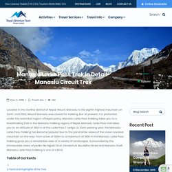 Manaslu Larke Pass Trek in Detail-Manaslu Circuit Trek