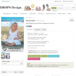 Beach Baby / DROPS Baby 10-7 - Robe DROPS sans manche, et Chapeau en Safran - Free pattern by DROPS Design