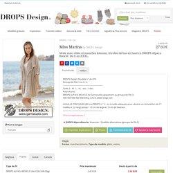 Miss Marina / DROPS 178-28 - Veste avec côtes et manches kimono, tricotée de bas en haut en DROPS Alpaca Bouclé. Du S au XXXL. - Modèle gratuit de DROPS Design