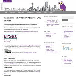 Manchester Family History Advanced OWL Tutorial