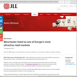 Manchester listed as one of Europe's most attractive retail markets