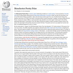 Manchester Poetry Prize