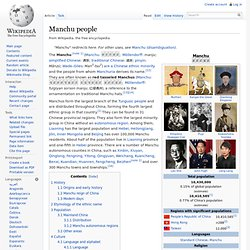 Manchu people