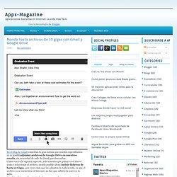 Manda hasta archivos de 10 gigas con Gmail y Google Drive ~ Apps-Magazine