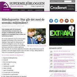 Måndagsserie: Hur går det med de svenska miljömålen?