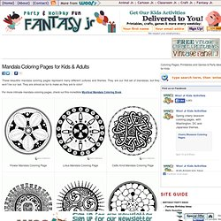 Mandala Coloring Pages for Kids & Adults | Fantasy Jr.