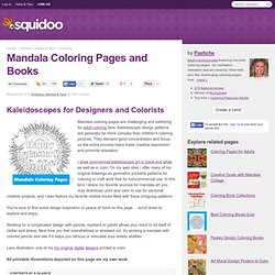 Mandala Coloring Pages and Books